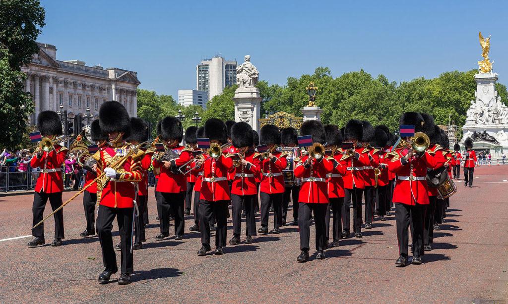 La fameuse garde royal de Londres